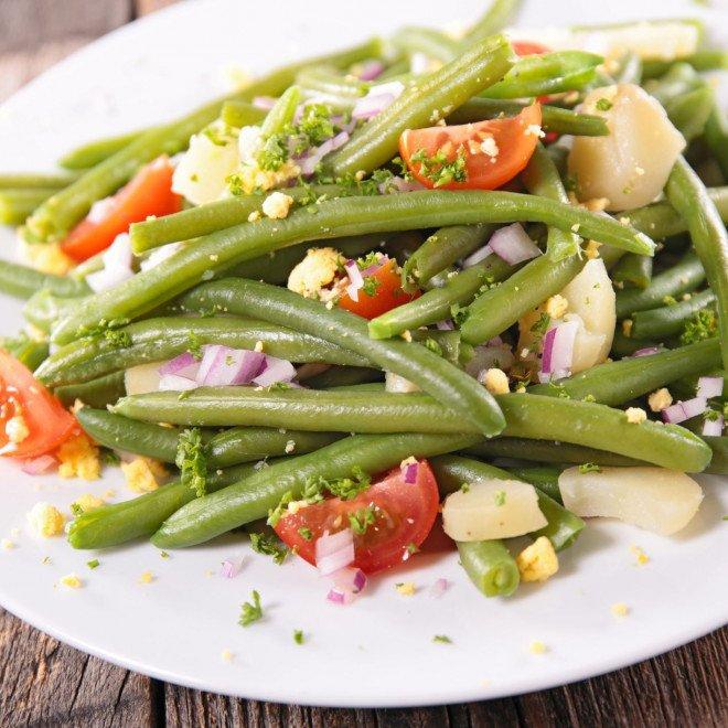 Salade haricots verts, pommes de terre